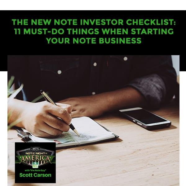 NNA 63 | Note Investor Checklist